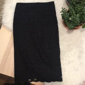 EXPRESS high waisted lace skirt